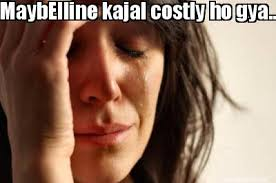 Meme Maker - MaybElline kajal costly ho gya..hey bhagvan Meme Maker! via Relatably.com