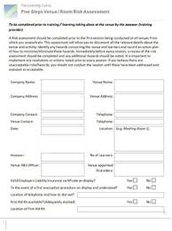 5 Step Risk Assessment Form 2012-13 | The Learning Curve