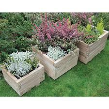 garden planters. Forest Garden Kendal Square Planter Set Of 3 Planters D