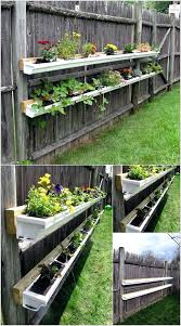 gutter ideas a beautiful gutter garden on a fence gutter cleaning business  name ideas