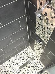 rock tile shower floor luxury river rock shower floor problems with bathroom sliced tile white