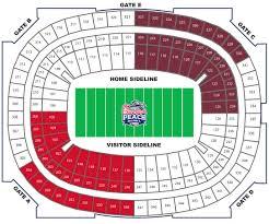 Georgia Dome Seating Chart Football Atlanta Falcons