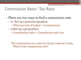 there are two ways to find a commission rate 1 set up a