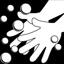 学校 手洗いイラストモノクロ 無料イラストpowerpoint