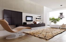 Modern Living Room Rug Living Room Excellent Contemporary Room With Tv Set On Wall Also