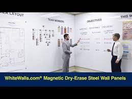 magnetic dry erase whiteboard wall