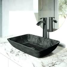 matte black bathroom faucet. Black Bathroom Faucets Matte Faucet Rectangular Gray Onyx Glass Vessel Sink Set With A
