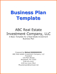 sample title investor business plan title page example bussines proposal real
