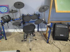 simmons amp. simmons 5-piece electronic sd1000 drum set w/da200s amp (local pickup only simmons amp