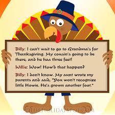 Small Picture Thanksgiving Jokes Humor