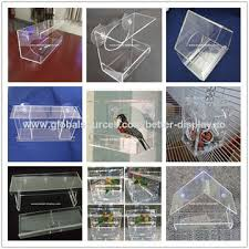 china clear acrylic window wild bird feeder with removable tray
