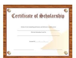 Scholarship Certificate Template Scholarship Certificate Template Download Printable Pdf