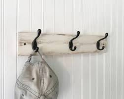 White Coat Hook Rack Farmhouse coat rack with 100 coat hooks wall coat rack painted 44