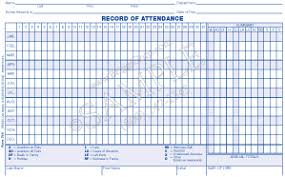 Attendance Record Form Free Attendance Tracking Templates And Forms