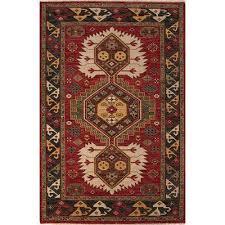 classic oriental red black wool area rug karle classic oriental red