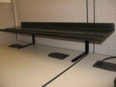 office cubicle shelves. Expand And Elevate Your Cubicle Storage With A Desk Shelf Office Shelves Pinterest