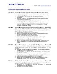 Best Community Organizer Resume Pictures - Simple resume Office .