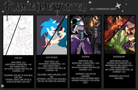 commission sheet 2017 commission sheet by flamiedewynter on deviantart