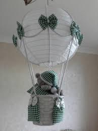 hot air balloon nursery light shade with tatty teddy made to order