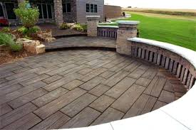 poured concrete patio ideas wood stamped concrete using wood poured concrete patio design ideas