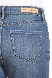 Treasure Bond High Waist Loose Skinny Ankle Jeans Rain
