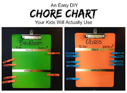 Easy Chore Chart The Kids Actually Like Midwestern Mama