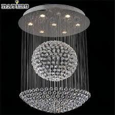 luxury modern led crystal chandelier dia60 h80cm ball design res de sala home lighting