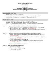 Work Meeting Agenda Educator Autonomy Work Group Agenda 6 2 14