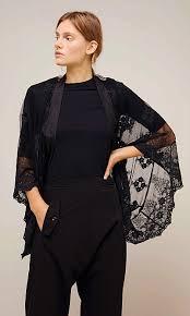 Ida black lace shrug - Plümo Ltd