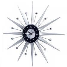 metal starburst wall clock sun2407 3