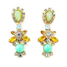 crystal statement drops dangle earrings with mint green accents for awesome residence chandelier dangle earrings remodel