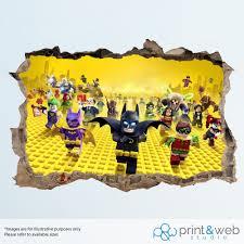 Lego Accessories For Bedroom Lego Batman Wall Stickers Ebay