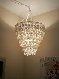 Roast Design Chandeliers Venise Lace Faux Chandelier Pendant Lamp Shade Ivory Diy