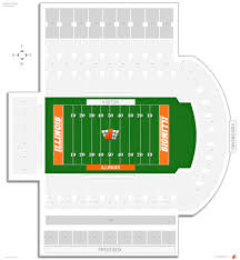 Illinois Seating Chart Football Memorial Stadium Il Illinois Seating Guide