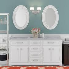 Three Posts Bergin 60 W Double Sink Bathroom Vanity Set with Mirror