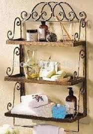 wrought iron bathroom shelf. Get Quotations · European-style Garden Wrought Iron Towel Rack Bathroom Shelf Wall Mount Racks Three Layer F