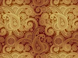 Damask Pattern Free Golden Damask Pattern Vector Art Graphics Freevector Com