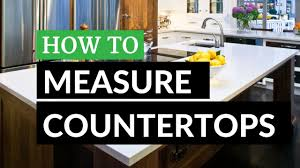 Measuring For Granite Kitchen Countertop How To Measure Countertops Youtube