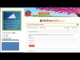of equations using wolfram alpha