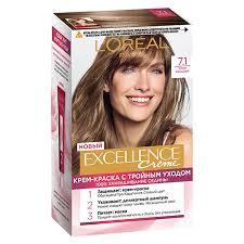 <b>Крем</b>-<b>краска для волос `LOREAL</b>` `EXCELLENCE` тон 7.1 (Русый ...