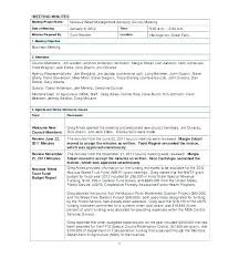 Meeting Recap Template For Agenda Minutes Template Committee Best Meeting Templates