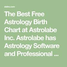 The Best Free Astrology Birth Chart At Astrolabe Inc