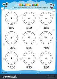 kindergarten telling time worksheets free library reading ...