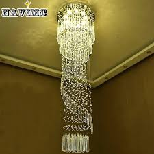 modern large crystal chandelier lighting for hotel hallway stairwell long stair light led hanging ceiling lmap living room lamp brass ceiling lights small
