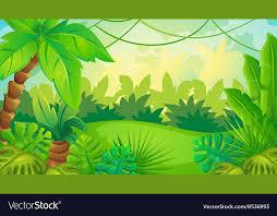 jungle background vector. Fine Jungle Cartoon Jungle Game Background Vector Image Throughout Vector G