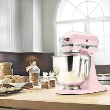 Designer Kitchen Aid Mixers Kitchenaid Artisan 5 Qt Pink Stand Mixer Ksm150pspk The Home Depot