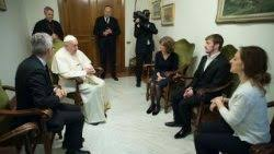 Image result for Photo of Pope Francis with the father of Alfie Evans