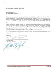 albuquerque public schools superintendent valentino resigns voluntary resignation and settlement agreement page 13