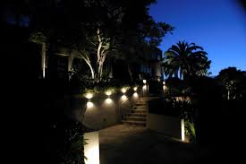 exterior lighting design ideas. trendy appealing outdoor staircase and handrail near contemporary landscape lighting design for front yard with lush exterior ideas