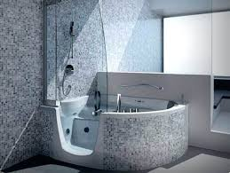 shower tub combo corner walk in tubs and showers with mosaic tile 5 foot dimensions